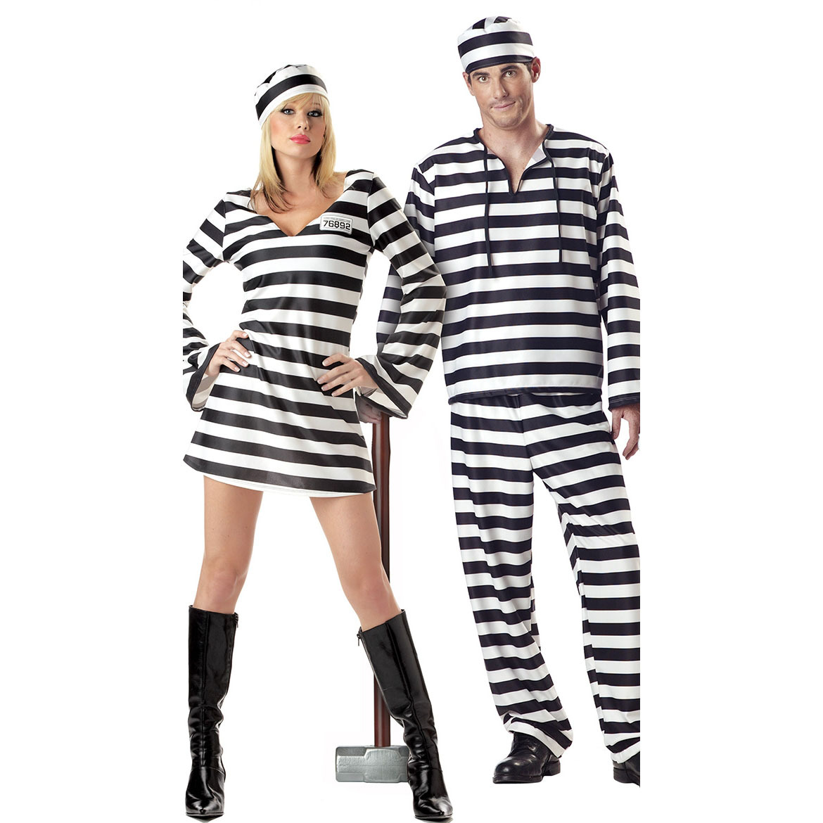Europe And America Women's Makeup Ball Stage Performance Costume COS Character Play Halloween Prisoner Suit Uniform