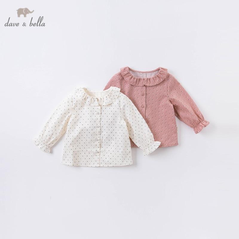 DB16150 dave bella рубашки для маленьких девочек с принтом в горошек, рубашки на пуговицах, топы для младенцев, детская одежда высокого качества|Блузки и рубашки| | АлиЭкспресс
