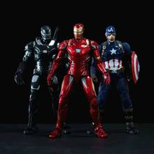 17CM Avengers Alliance 4 Super Hero Spider-man Thor Iron Man Captain Infinite War Scale Figure Statue Toy and Doll Gifts