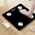 Беспроводной напольные весы тела Ванная комната весы светодиодный цифровой Смарт Вес весы Баланс Bluetooth тела весы