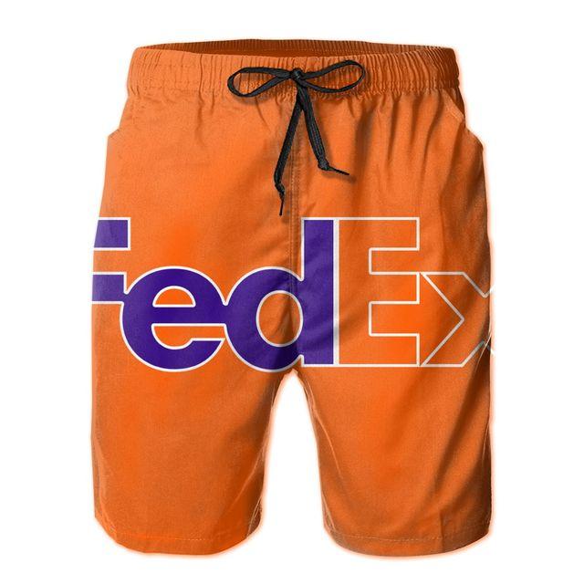 F.edex Men's Quick Dry Swim Trunks Colorful Stripe Beach Shorts with Mesh Lining 1