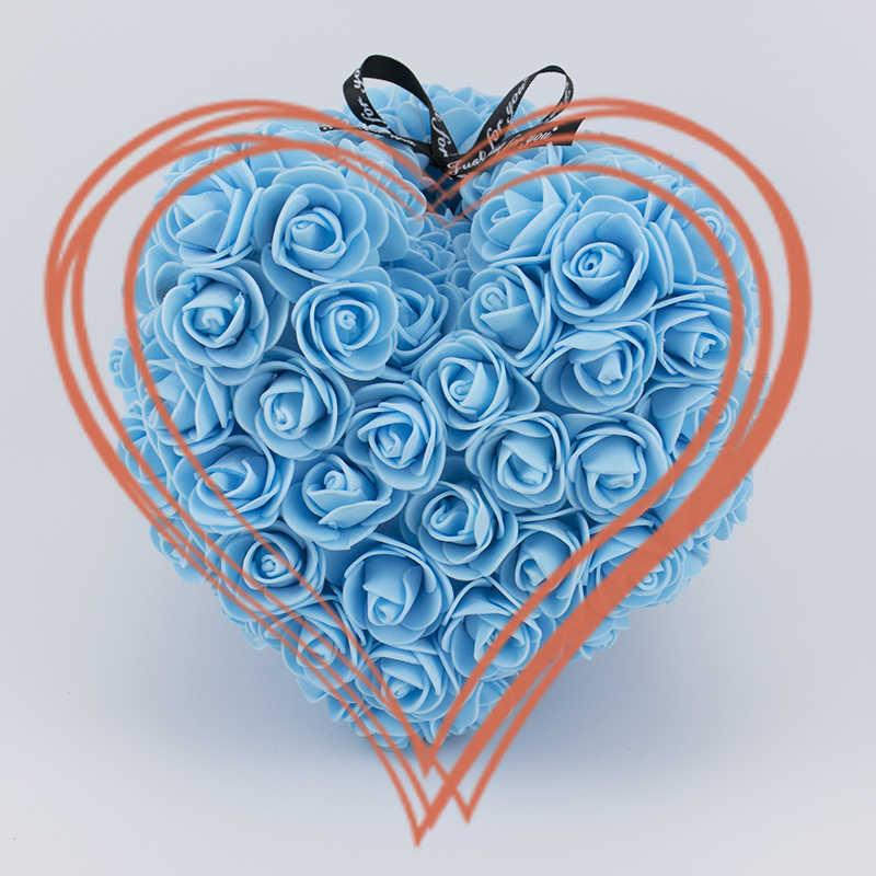 Rose หมี 25 ซม.ของขวัญกล่องของขวัญวันวาเลนไทน์,ดอกไม้ประดิษฐ์ Rose Teddy Bear, สบู่ดอกไม้สำหรับงานแต่งงานตกแต่ง
