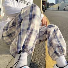 Printemps Eté Pantalons À Carreaux Mode homme Rétro Pantalons Décontractés Hommes Streetwear Coréen Hip-hop droite pantalon À jambes Larges Pantalons Pour Hommes