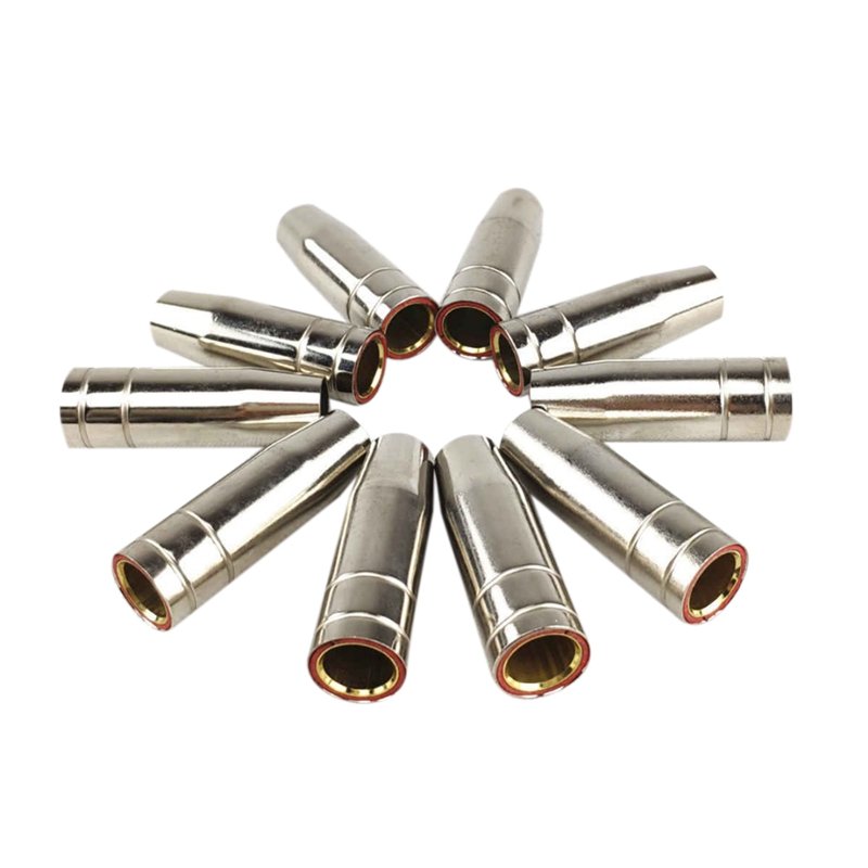 15Ak Gas Nozzle 10Pcs Mig Welding Torch Gas Nozzle Contact Tip For Mig Welding