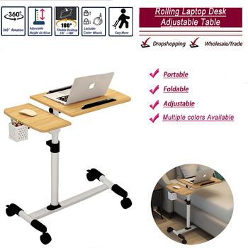 Foldable Computer Table Adjustable Portable Laptop Desk Rotate Bed Table Can be Lifted Standing Desk Wholesale