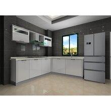 CBMMART Фошань дешевые все в одном кухонный шкаф дизайн l форма