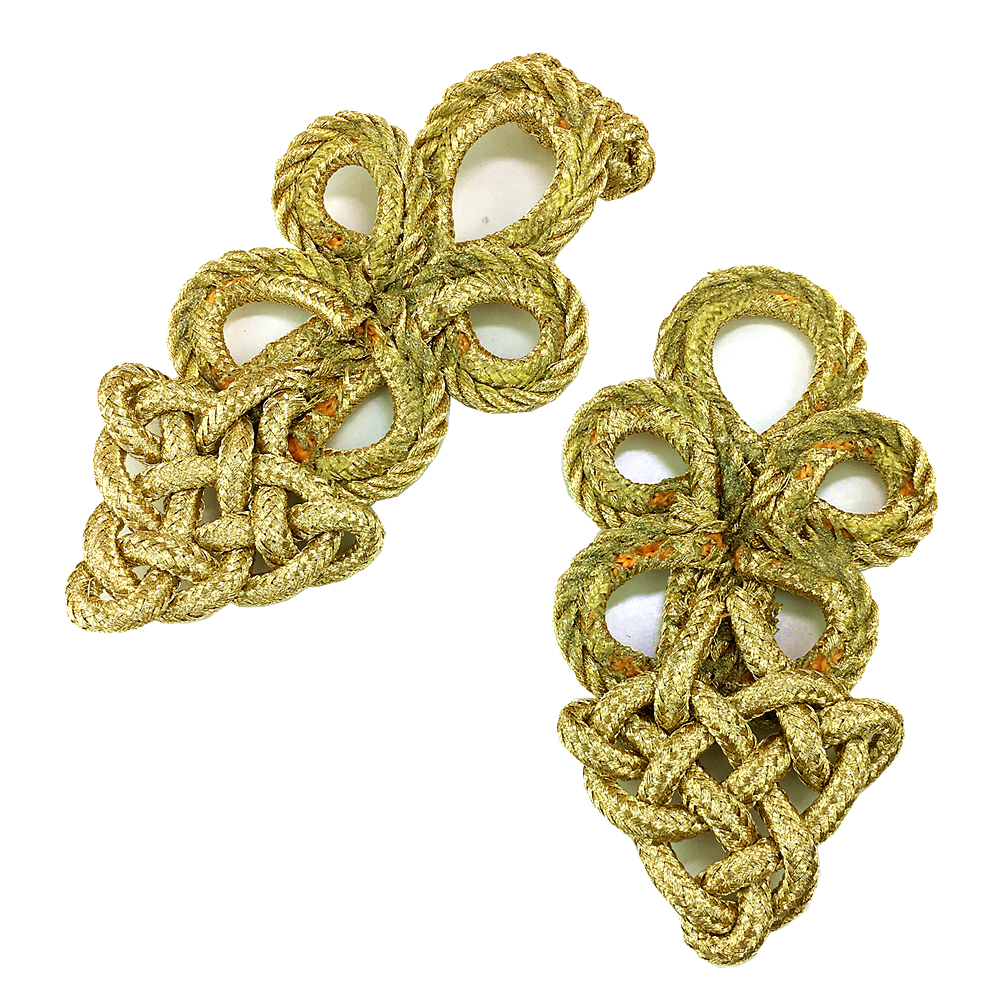 Image 5 - 6set Gold Baroque Frog Fastener Cord Embroidery Closure Chinese Knot Button Retro Applique For Clothing DIY Accessories AC1507Patches   -