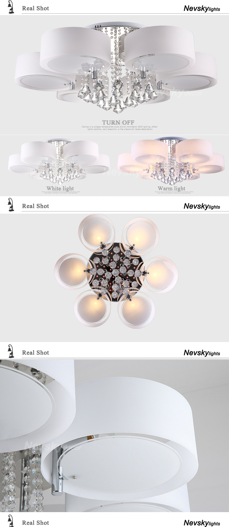 H6e92015ed1f04cae8ad5a7454e8ac3361 Modern crystal Ceiling Lights living fashionable design light dining changeable led ceiling lamp bedroom white shade acrylic