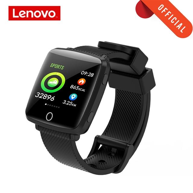 Lenovo Watch Sport Smart Wristband 1.3 Inch 2.5D IPS Screen IP68 Deep Waterproof Weather Display Heart Rate Monitoring Watch