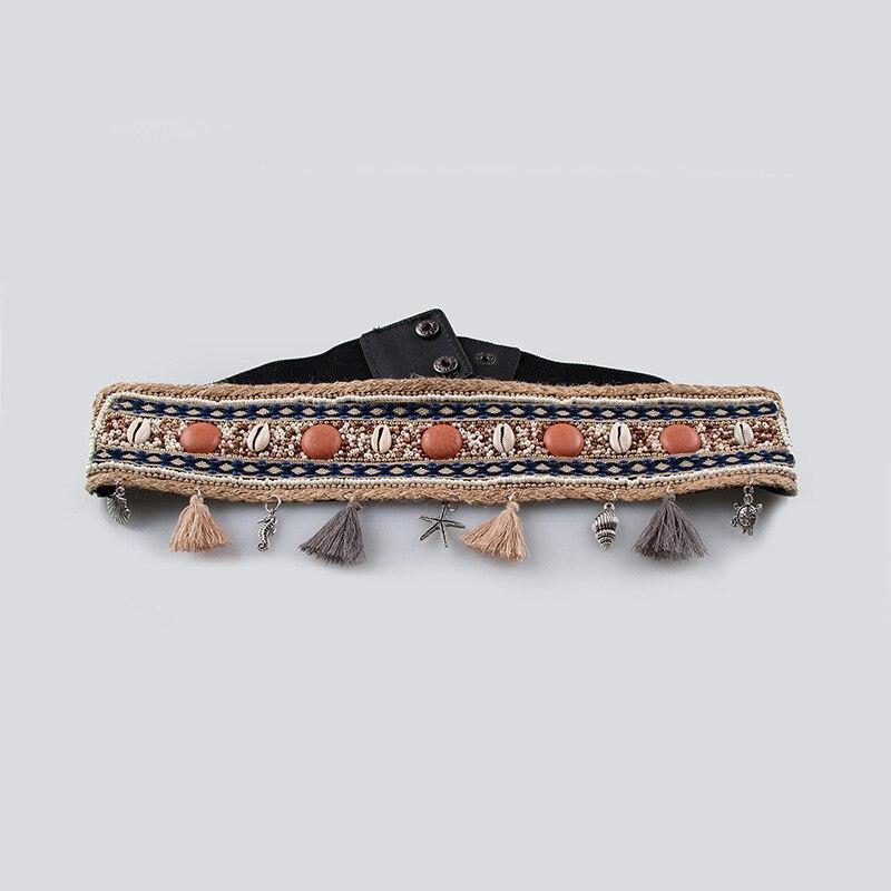Hot Sale 2020 New Design Trendy Hemp Rope Braided Belts For Women Solid Vintage Corset Belt High Fashion Waistband Female ZL068