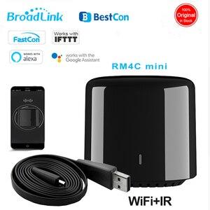 Оригинальный Broadlink RM4c Мини домашняя Автоматизация WIFI + IR управление ler Broadlink приложение дистанционное управление для умного дома