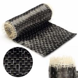 12K 200G 10*100cm черная матерчатая тканевая лента из углеродного волокна однонаправленная ткань для строительства и ремонта моста