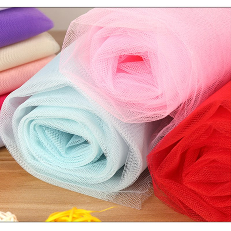 Nylon Tulle Mesh Fabric Home Party Festival Decor For Romantic Wedding Party Gauze Fabric DIY Kids Dress Materials