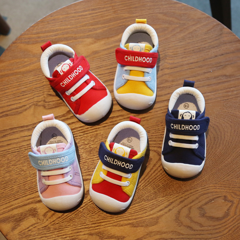 Unisex Baby Walker Shoes Breathable Baby Shoes Girl Boy Canvas Casual Shoes Soft Rubber Sole Comfortable Non-slip Shoes
