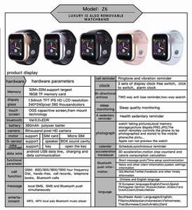 Image 5 - Z6 2G SIM TF Cartão de Áudio e Vídeo Player Relógio de Sono Crianças Crianças Freqüência Cardíaca BP Saúde Rastreador Android inteligente relógio para homens