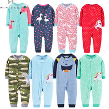 Orangemom spring 2021 baby girl clothing fleece infant clothes soft baby rompers , cute