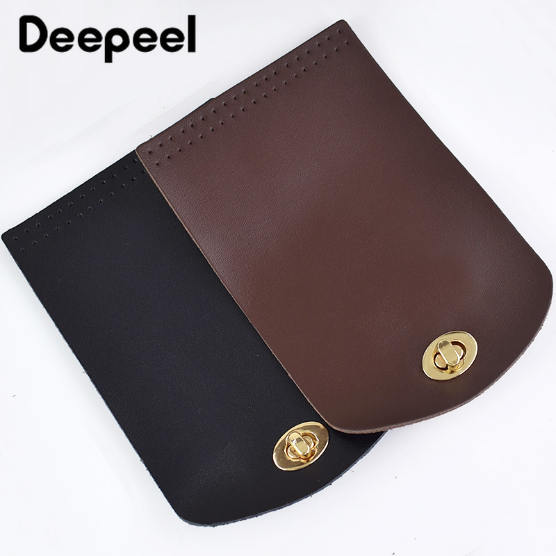 Deepeel Bag Flip Cover Leather Clasp Lock Leather Handle Replacement Buckle DIY Handbag Shoulder Bag Parts Accessories BF018