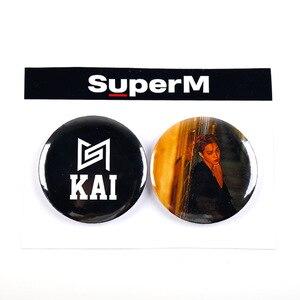 Мини-альбом Kpop SuperM, значки Super M Jopping, броши в форме сумки, броши KAI LUCAS TAEMIN TAEYONG BAEKHYUN TEN MARK