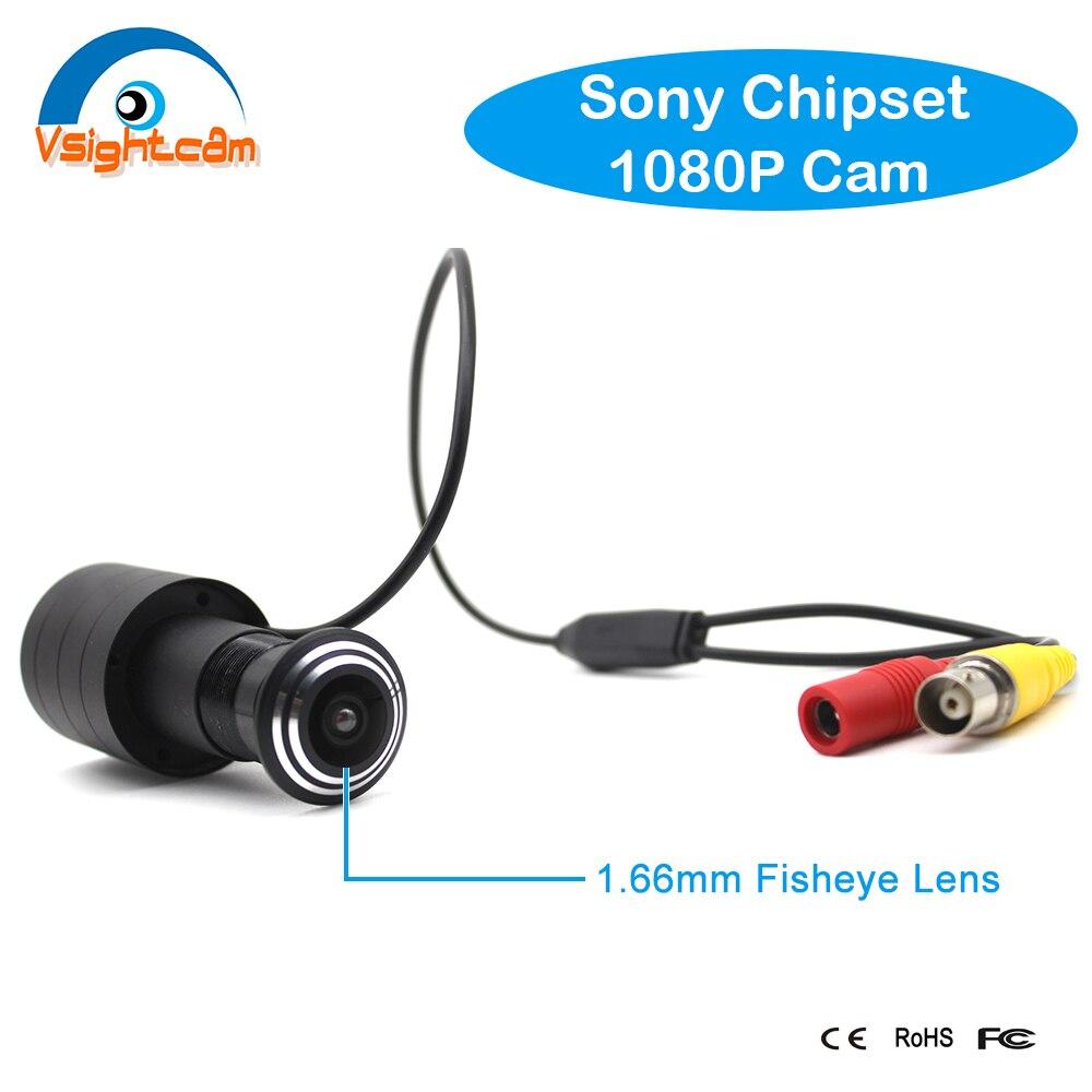 SONY323 Mini AHD caméra HD 1080P porte oeil trou 1.66mm grand Angle Fisheye lentille judas caméra sécurité à domicile CCTV Surveillance