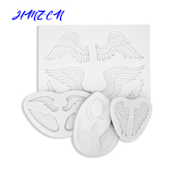 1PC 3D Angel wings Silicone Mold Fondant Cake Baking Mold Chocolate Resin Gypsum Candle Candy Mold