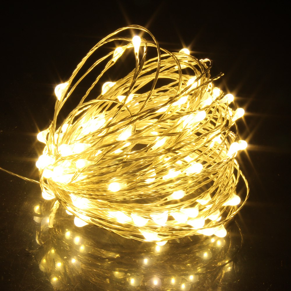 1/2/5/10/20M LED Fairy Lights Christmas Tree String Holiday Garland Party Wedding Indoor Decoration Batter USB Solar PoweRED