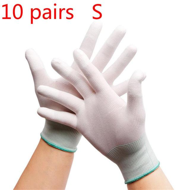 5pair Anti static ESD electronic working Gloves pu coated palm coated fing/_yk