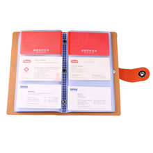Business Card Books Business Card Holders with Magnetic Closure for Organizing Cards Journal Business Card Organizer Name Card(China)