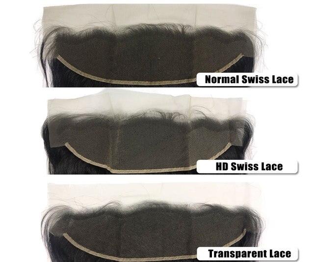 Ciało fala HD przezroczysty peruki typu Lace front 150% / 180% gęstość 10-26 cali wstępnie oskubane linii włosów brazylijski ludzki włos peruki