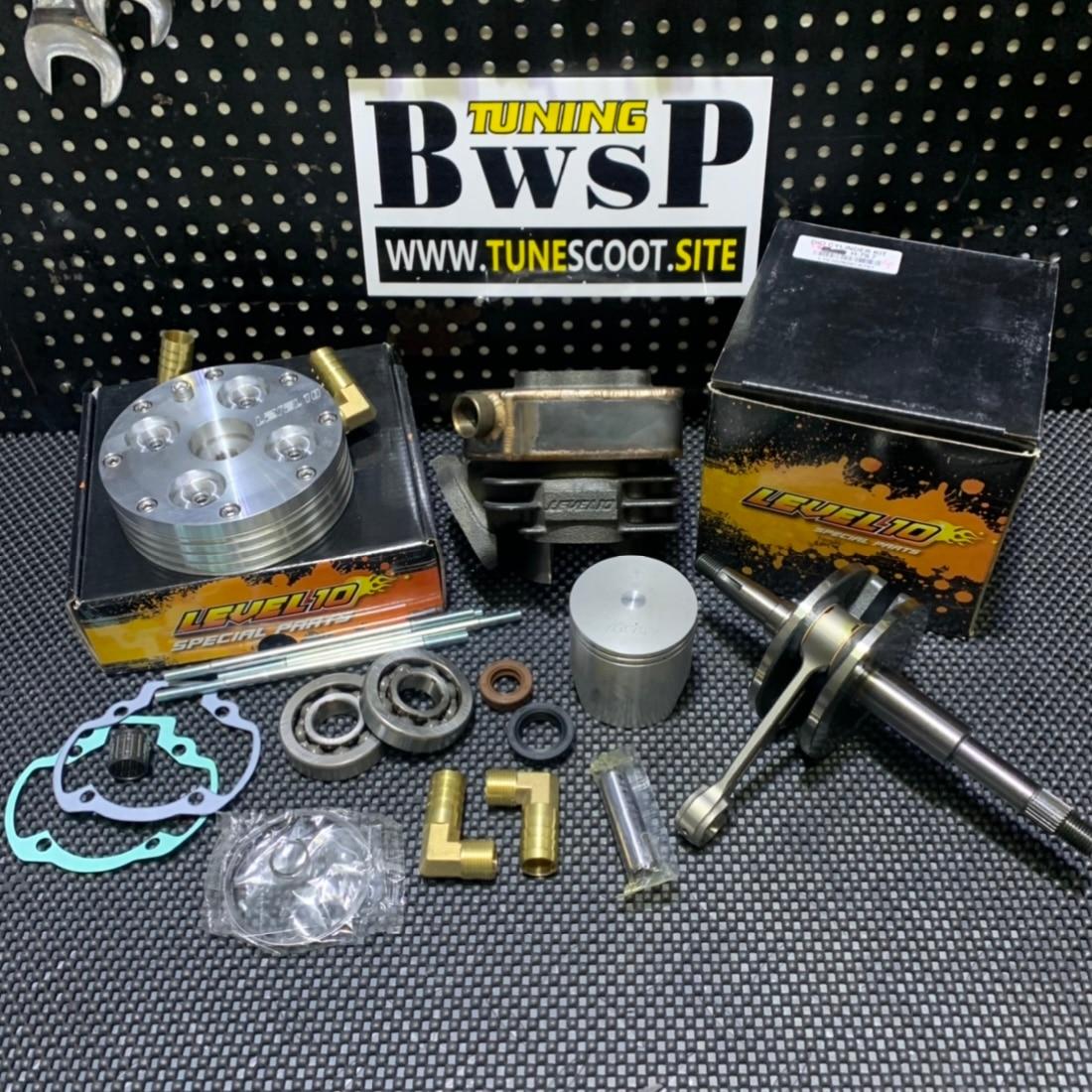DIO50-gran cilindro de refrigeración por agua, Kit de gran cilindro de 150cc, cilindro de refrigeración por agua, cigüeñal de 58mm, cabezal de 56,6mm, juego de Perfomance BWSP, Tuning Racing Dio 50