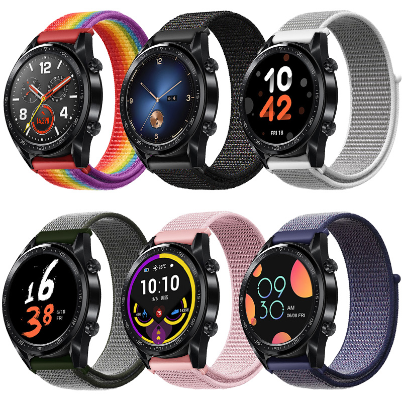 20mm 22mm Sport Nylon Loop Strap Band For Huawei Watch GT/GT2  Watchband Quick Release Wristband For Samsung Gear S3/Galaxy 42mm