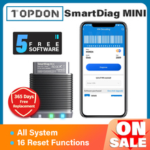 Car-Diagnostic-Tool Automotive-Scanner Softwares Bluetooth All-System Topdon Smartdiag