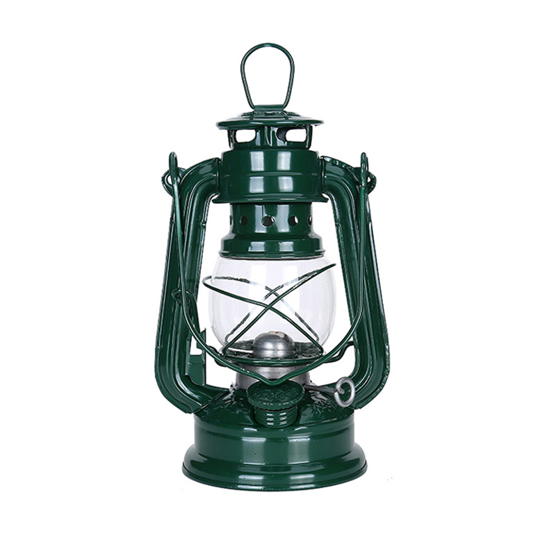 Vintage Iron Kerosene Lamp Portable Outdoor Camping Oil Light Lantern Decoration