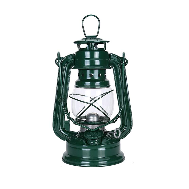 Vintage Iron Kerosene Lamp Portable Outdoor Camping Oil Light Lantern Decoration