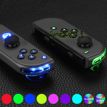 7 ألوان 9 وسائط NS Joycon DFS LED كيت متعددة الألوان Luminated الكلاسيكية الرموز ABXY الزناد الوجه أزرار ل NS التبديل JoyCon