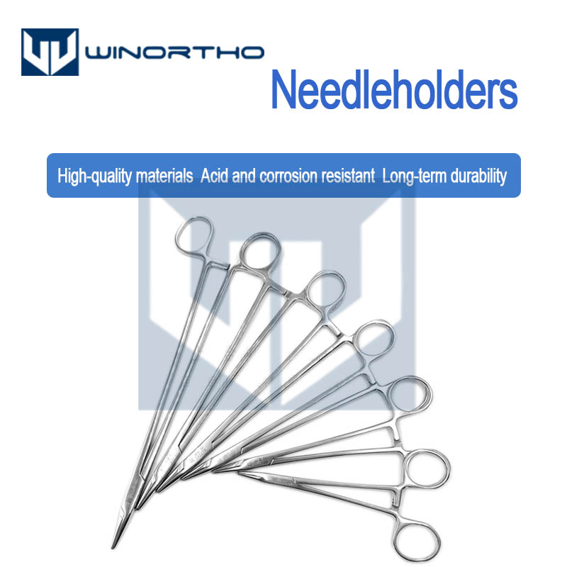 Stainless Steel Surgical Needleholders 12.5cm 14cm 16cm Medical  Veterinary General Instruments Mayo