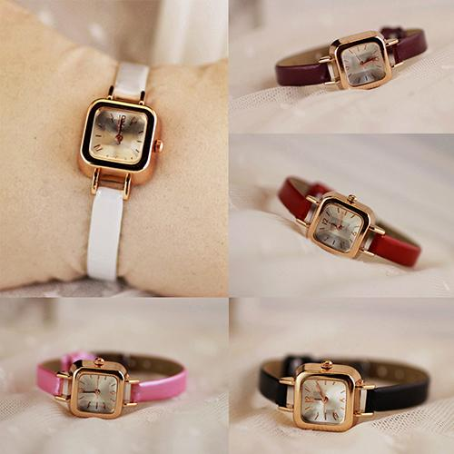 Women's Slim Faux Leather Clock Ladies Watch Strap Square Dial Female Analog Quartz Wrist Watch Gift New Reloj Mujer Ladies Dres