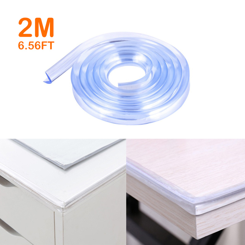 2M Baby Safety Protection From Children Table Desk Edge Transparent Edge Guards Corner Protection Kids Collision Bumper Strip