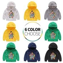 Kids Hoodies Sweatshirt Boys Children Girls Baby Toddler Infant Autumn Sprint Print Dogs Tops Clothing Clothes Cotton Cartoon цены