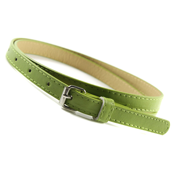 Toddler Boy Girl Faux Leather Belts Candy Color Thin Skinny Waistband Adjustable
