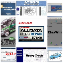 2020 heißer Alldata mitchell auf nachfrage Software Alle daten 10,53 + mitchell auf nachfrage 2015 + AutoData + Lebendige werkstatt + atsg 24in hdd usb3.0