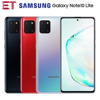 Перейти на Алиэкспресс и купить Смартфон Samsung Galaxy Note10 Lite SM-N770F/DS Dual SIM мобильный телефон 6,7 дюймов 8 ГБ ОЗУ 128 Гб ПЗУ OctaCore 4500 мАч NFC Android 10