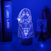Kanojo Okarishimasu Sumi Sakurasawa Led lampka nocna dla dekoracja sypialni prezent Nightlight Anime Waifu 3d lampa Sumi, dokonując niewielkiej dodatkowej opłaty, mogą dziewczyna
