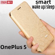 Flip Case Voor Oneplus 5 Case Oneplus 5 Cover Stand A5000 Case Lederen Glitter Mofi Soft Silicon Anti Klop Terug Coque business