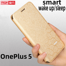 flip case for oneplus 5 case OnePlus 5 cover stand A5000 case leather glitter Mofi soft silicon anti knock back coque business