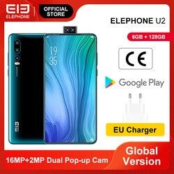Смартфон ELEPHONE U2 MTK MT6771T, Восьмиядерный, 6 ГБ, 128 ГБ, 16 МП, 6,26 дюймов, FHD + экран, распознавание лица, Android 9,0