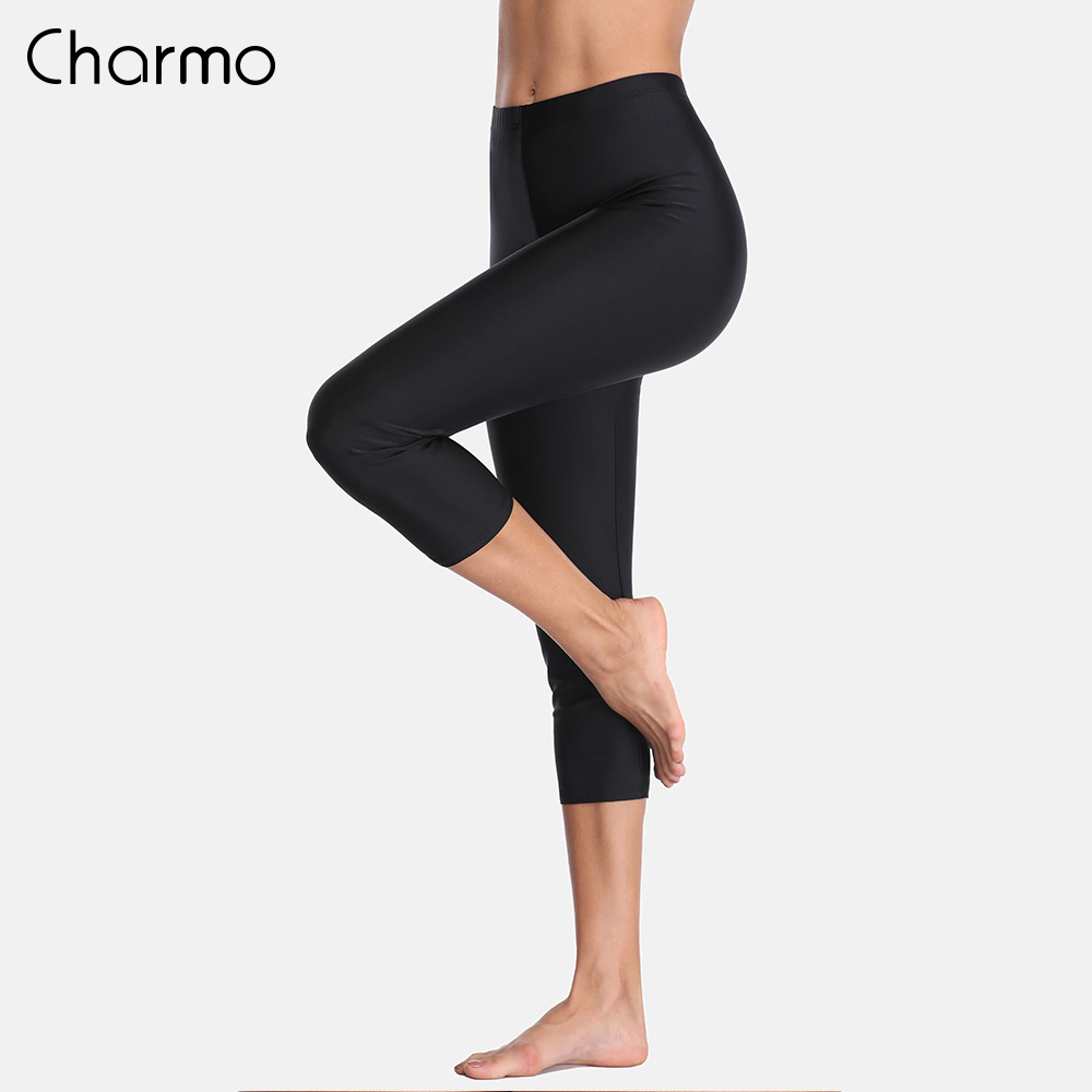 Charmo  Women Tankini Bottom Swimwear  Pants  Ladies High Waist Swimming Pants Sports Swimming Botoms