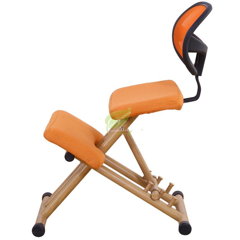 Metalic Chair Ergonomical Designed Kneeling Chair Stool Handle Height Adjust Office Knee Chair Ergonomic Correct Posture