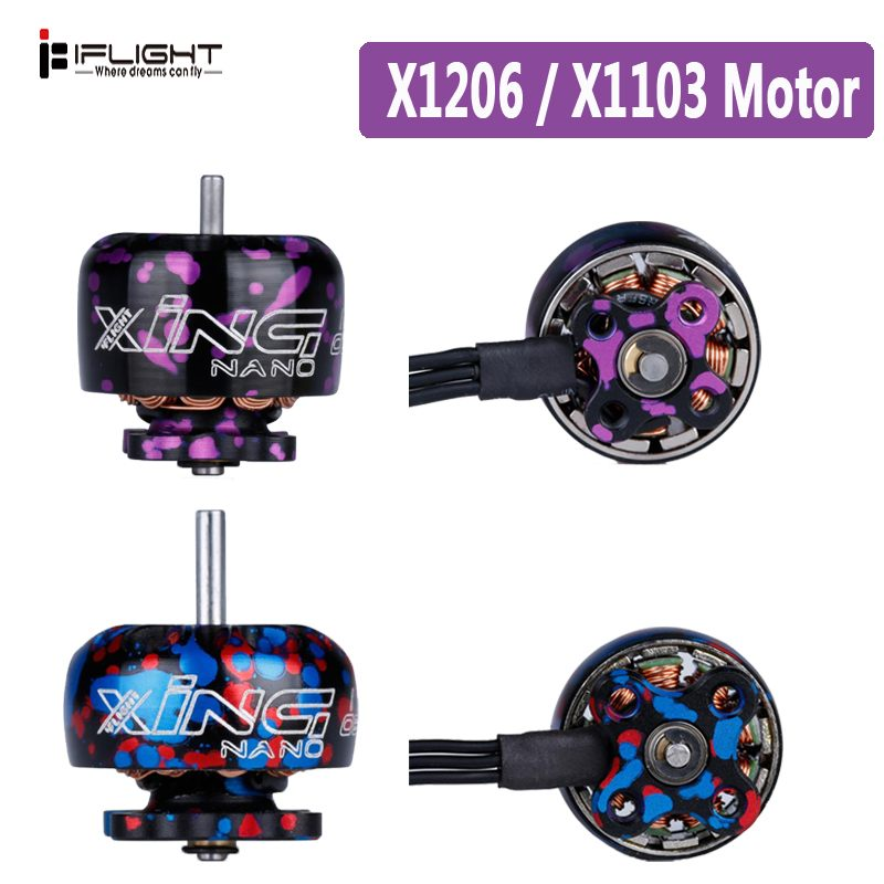 1PCS IFlight XING X1103 1103/X1206 1206 8000KV/10000KV 4500KV/6500KV 2-3S/2-4S CW Thread Brushless Motor For RC Drone FPV Racing