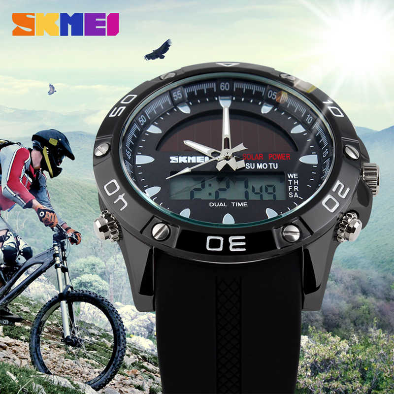 SKMEI Relógio dos homens Do Esporte Da Forma de Luxo Chrono Alarme Dupla Afixação À Prova D' Água Militar Relógio de Pulso de Quartzo Relogio masculino