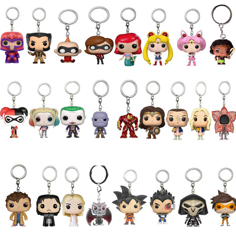 FUNKO POP Marvel Toy Story 4 Stan Lee Sailor Moon Aladdin Pocket Keychain Stranger Things Action Figure toys for Children Gift